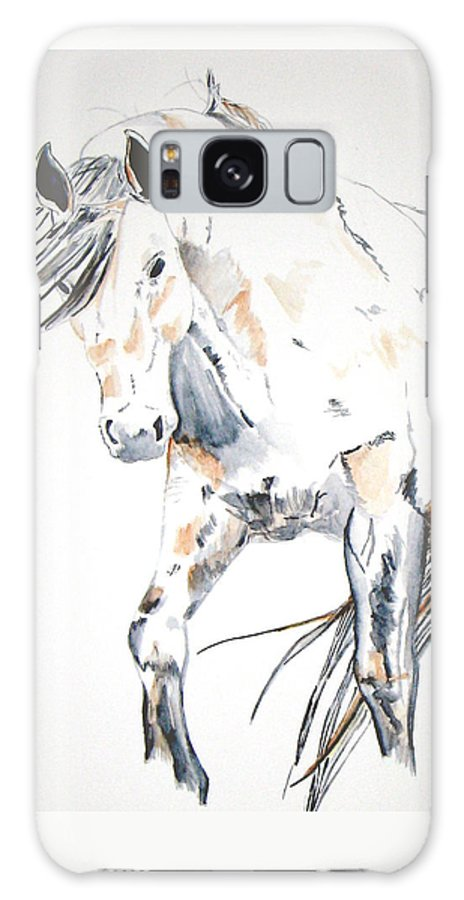 Horse Galaxy S8 Case featuring the painting Beauty by Crystal Hubbard