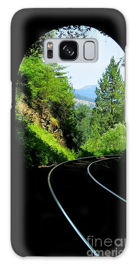 Tunnel Galaxy S8 Case featuring the photograph Beauty On The Other Side by Mary Willrodt