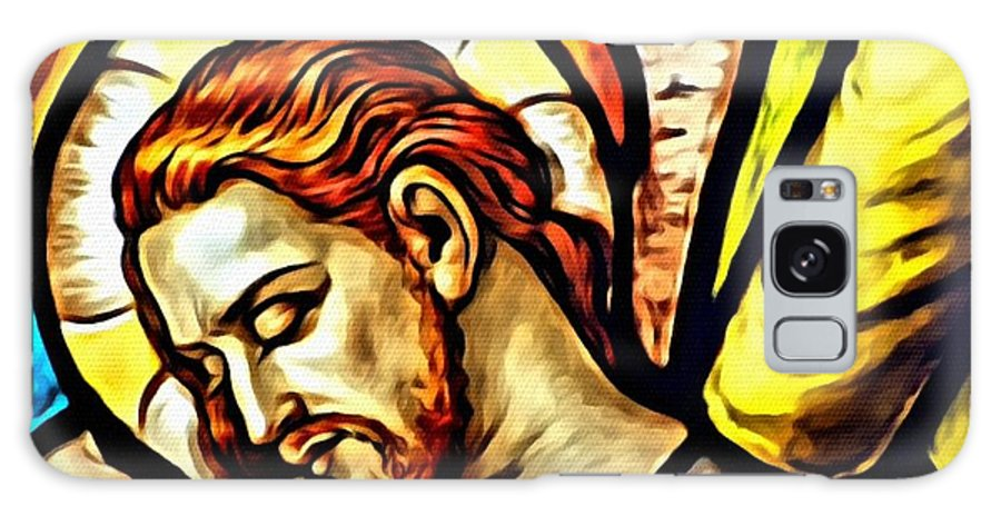 Jesus Acrylic Framed Prints Galaxy S8 Case featuring the digital art Because You Loved Me by Karen Showell