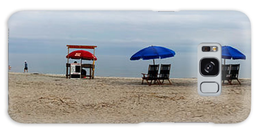 Hilton Head Galaxy S8 Case featuring the photograph Beach Chairs Panorama Hilton Head by Thomas Marchessault
