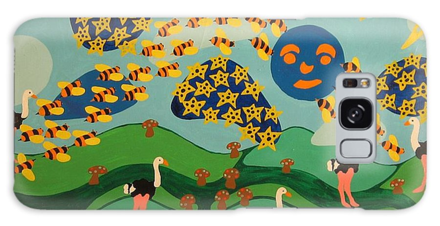 Bees Galaxy S8 Case featuring the painting Bee The Leader by Erika Chamberlin