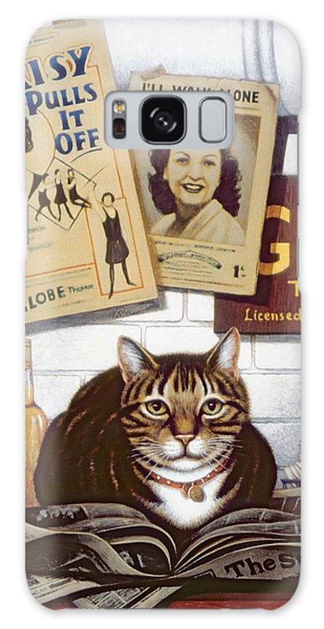 Pet Galaxy S8 Case featuring the photograph Beerbohm, The Theatre Cat Oil & Tempera On Panel by Frances Broomfield