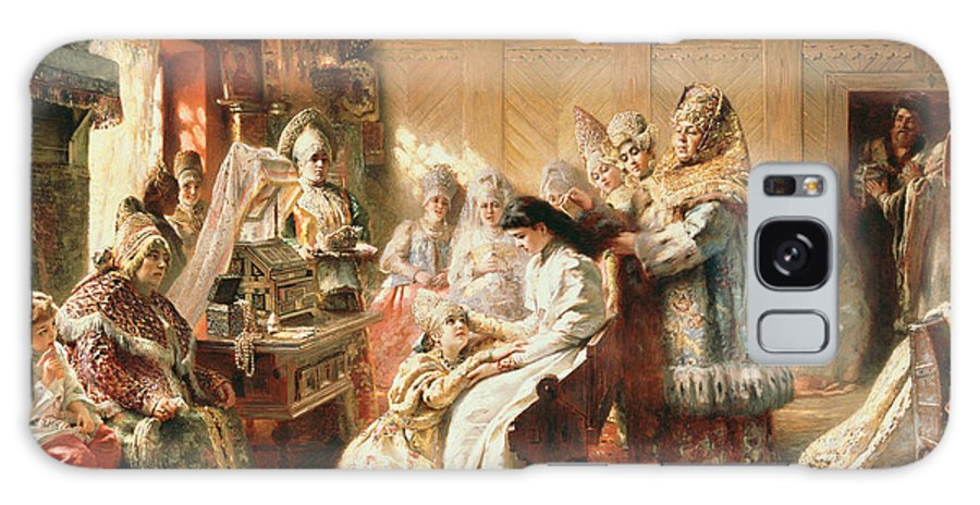 Avant Le Mariage Galaxy S8 Case featuring the photograph Before The Wedding, 1890 Oil On Canvas by Konstantin Egorovich Makovsky