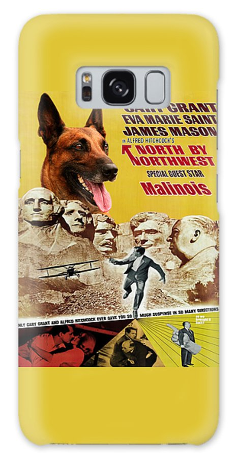 Belgian Malinois Galaxy S8 Case featuring the painting Belgian Malinois Art Canvas Print - North By Northwest Movie Poster by Sandra Sij