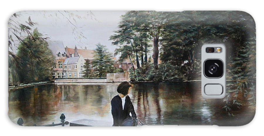 Water Galaxy Case featuring the painting Belgium Reflections In Water by Jennifer Lycke