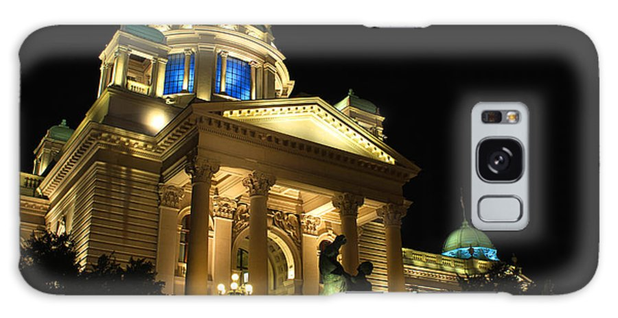 Lights Galaxy S8 Case featuring the photograph Belgrade Parliament by Julia Fine Art And Photography