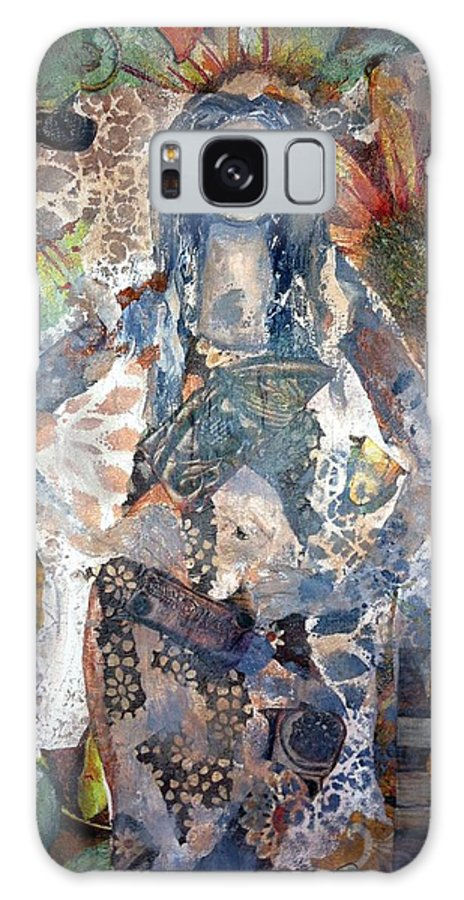 Girl Galaxy S8 Case featuring the mixed media Believe In You by Kristina Thompson