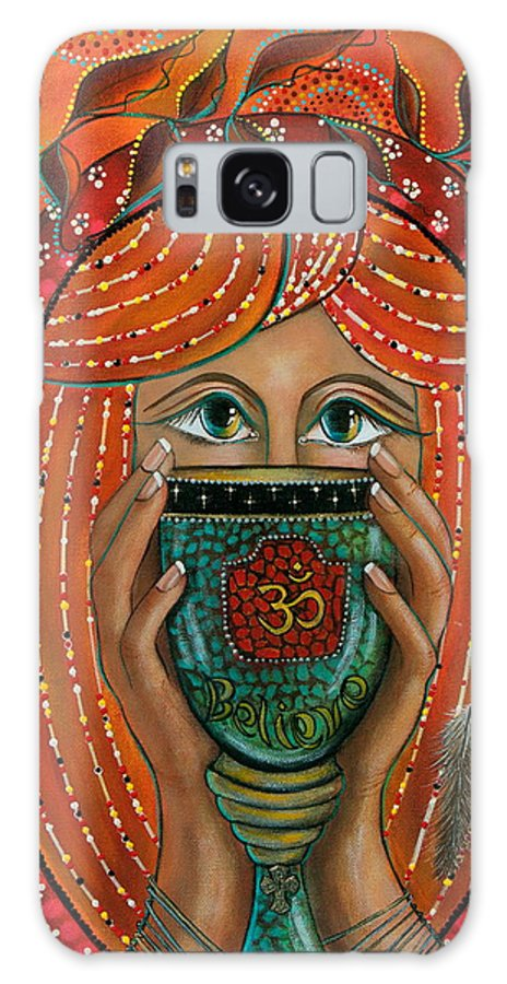 Aum Galaxy S8 Case featuring the painting OM by Deborha Kerr