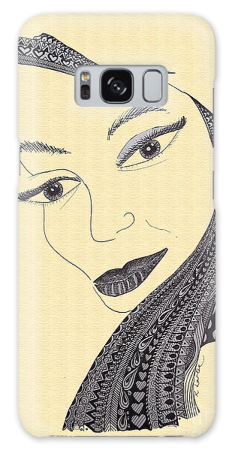 Love Galaxy S8 Case featuring the drawing Believe Sand by Karen Larter