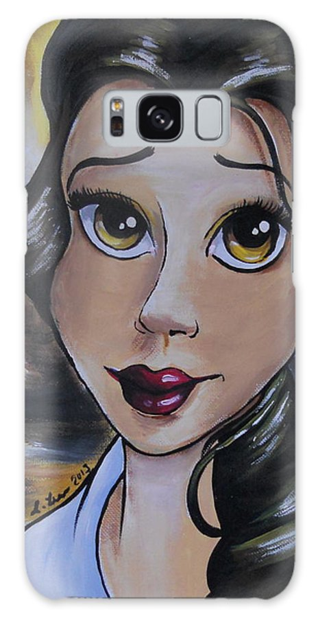 Disney Galaxy S8 Case featuring the painting Belle In A Da Vinci Style by Lisa Leeman