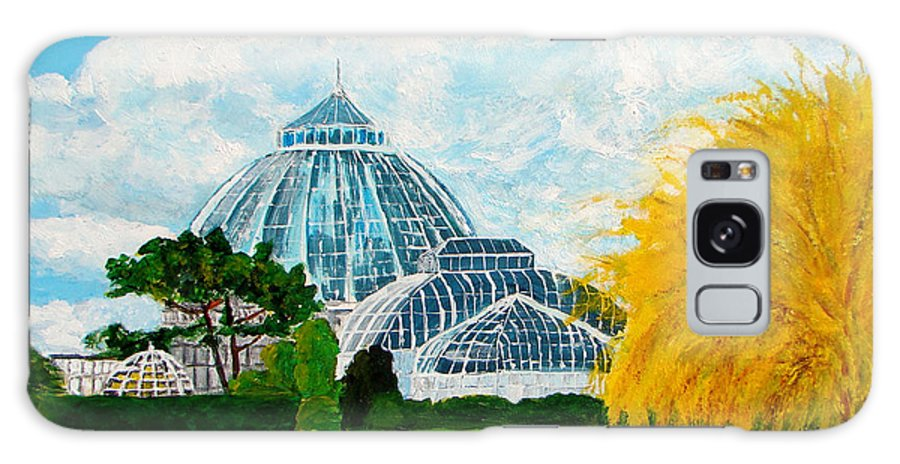 Belle Isle Galaxy S8 Case featuring the painting Belle Isle Conservatory by Suzanne Johnson