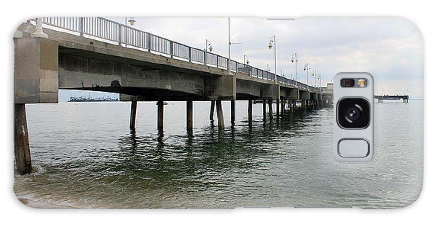 Ocean Galaxy S8 Case featuring the photograph Belmont Shore Pier California by Robert Butler