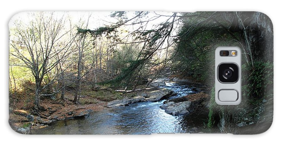 River Galaxy S8 Case featuring the photograph Belvidere Junction Stream Vermont by Barbara McDevitt