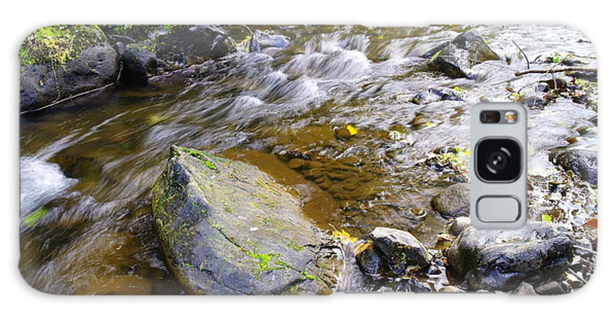 Water Galaxy S8 Case featuring the photograph Bending Between The Rocks by Jeff Swan