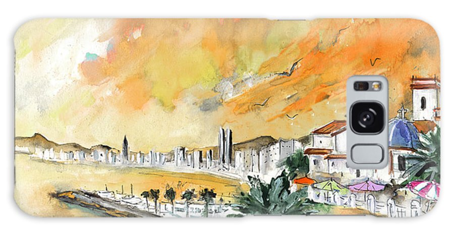 Travel Galaxy S8 Case featuring the painting Benidorm Old Town by Miki De Goodaboom
