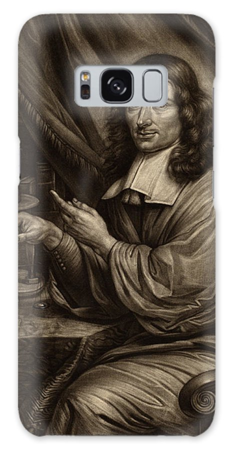Bernard Galaxy S8 Case featuring the drawing Bernard Vaillant Flemish, 1632 - 1698, Cornelis Mayer by Quint Lox