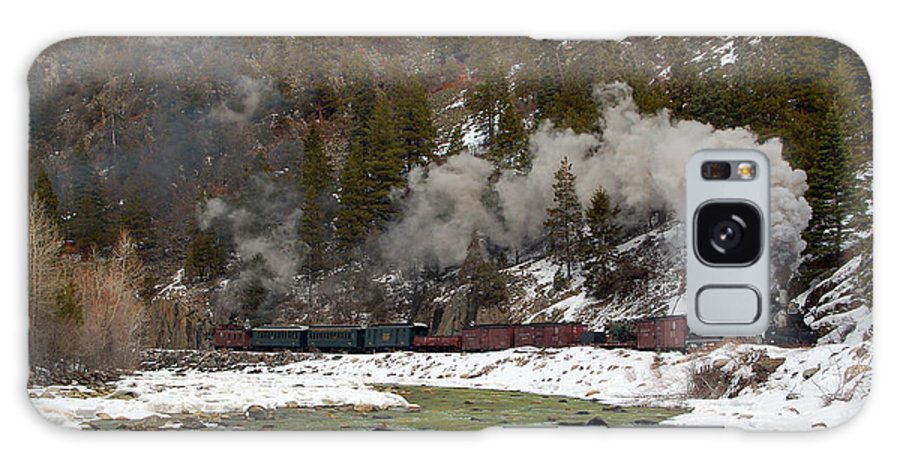 Steam Train Galaxy S8 Case featuring the photograph Beside The Animas River by Ken Smith