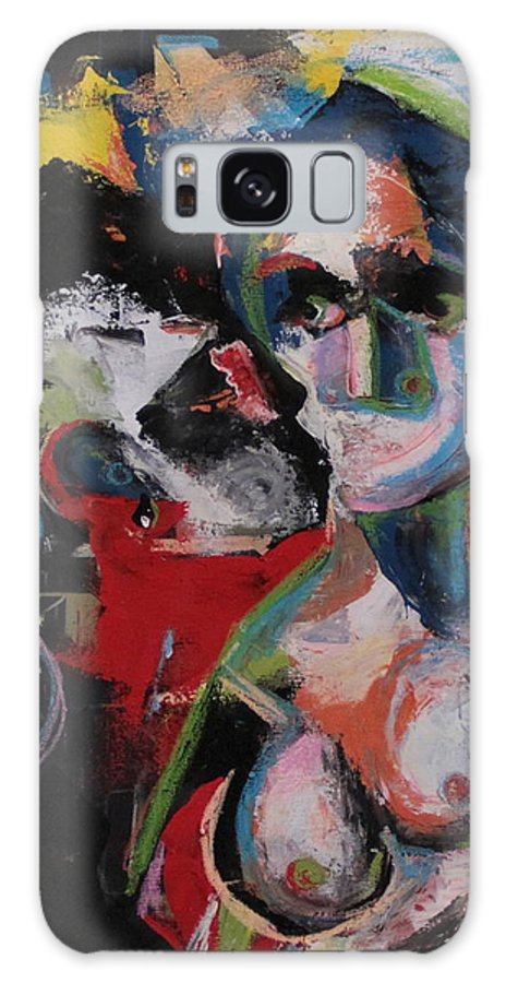 Beso Galaxy S8 Case featuring the painting Beso by Piki Mendizabal