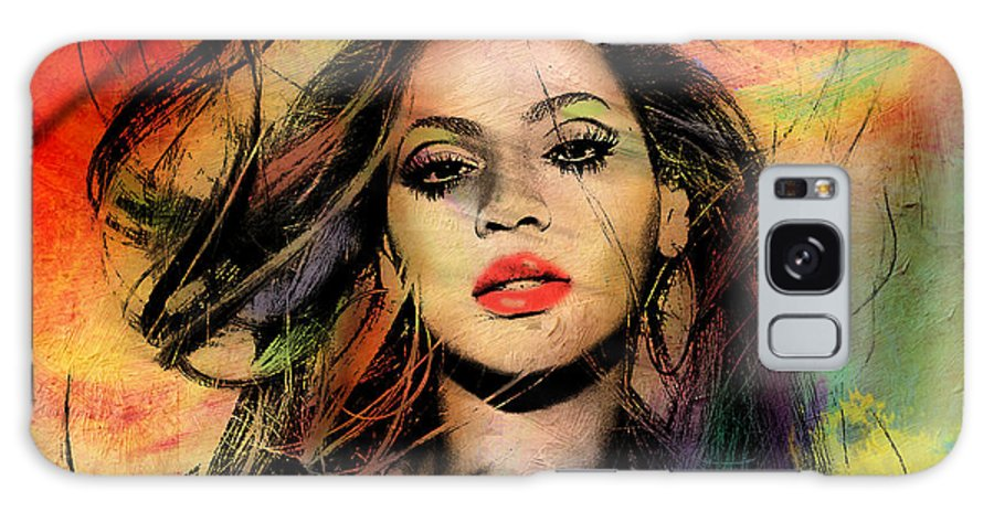 Beyonce Galaxy Case featuring the painting Beyonce by Mark Ashkenazi