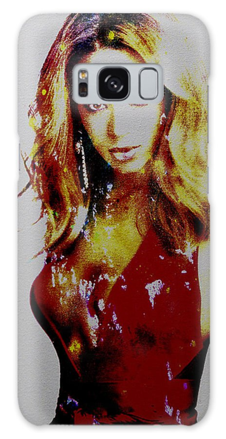 Beyonce Galaxy S8 Case featuring the painting Beyonce Simply Me by Brian Reaves