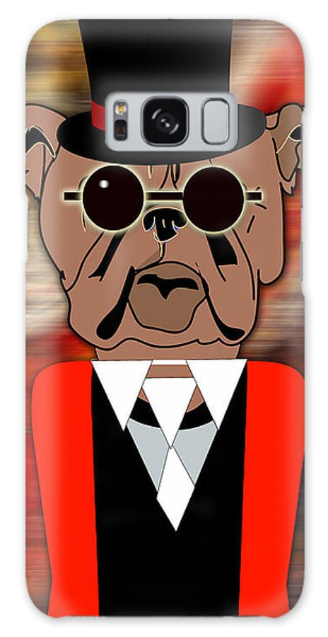Bull Dog Galaxy S8 Case featuring the mixed media Big Bull Dog by Marvin Blaine