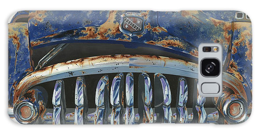 Old Galaxy S8 Case featuring the painting Big Buxom Buick by John Wyckoff