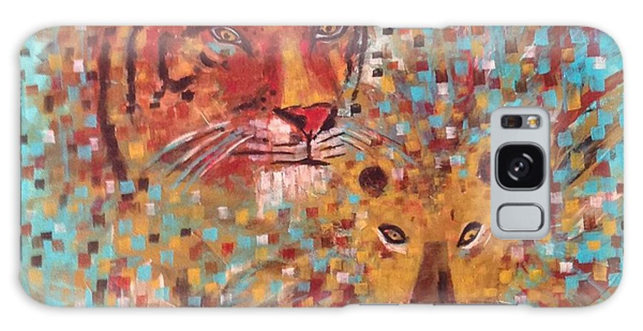 Original Galaxy S8 Case featuring the painting Big Cats by Kelli Perk