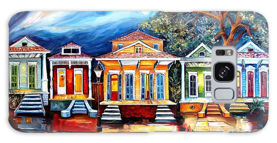 New Orleans Galaxy Case featuring the painting Big Easy Shotguns by Diane Millsap