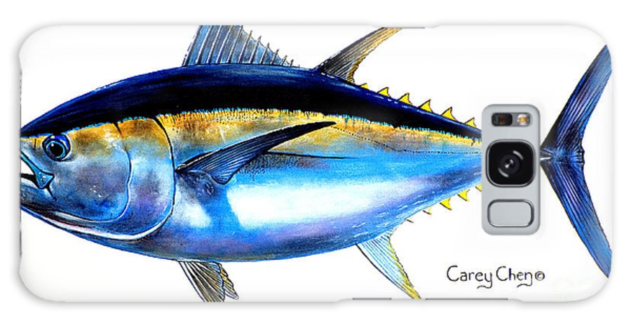 Tuna Galaxy S8 Case featuring the painting Big Eye Tuna by Carey Chen