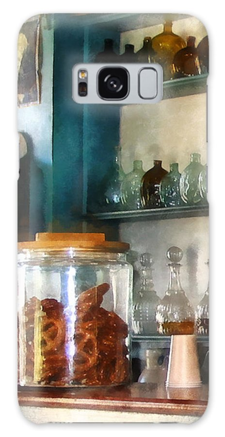 Pretzel Galaxy S8 Case featuring the photograph Big Jar Of Pretzels by Susan Savad