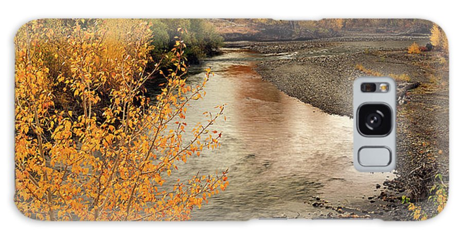 Autumn Galaxy S8 Case featuring the photograph Big Lost River In Autumn by Leland D Howard