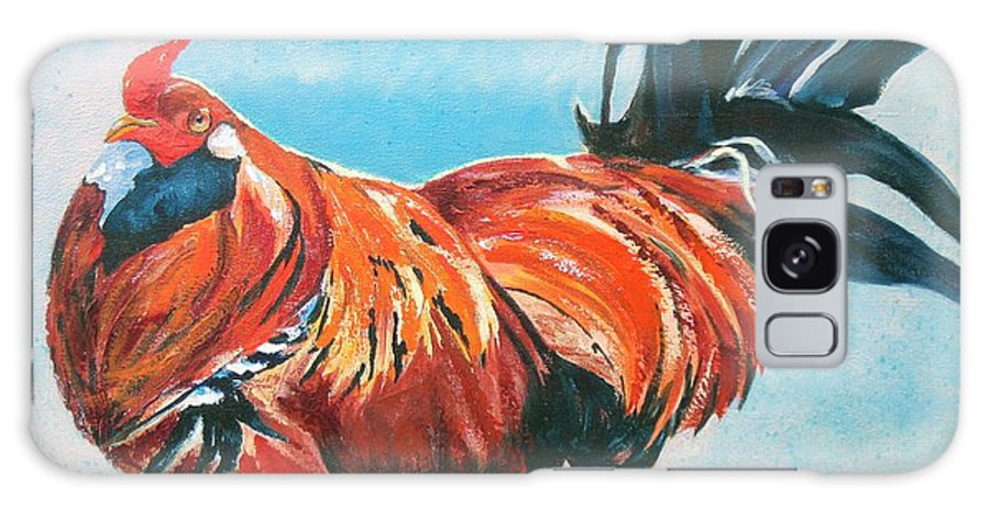 Animal Galaxy S8 Case featuring the painting Big Red by Vicki Brevell