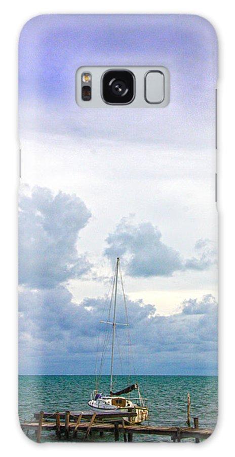 Caye Caulker Galaxy S8 Case featuring the photograph Big Sky Caye Caulker Belize by Lee Vanderwalker