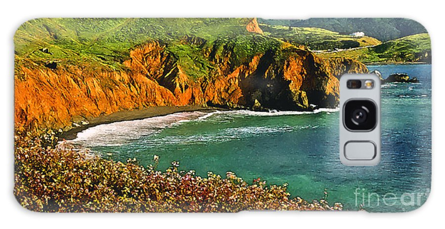 Big Sur California Coastline Galaxy S8 Case featuring the painting Big Sur California Coastline by Bob and Nadine Johnston