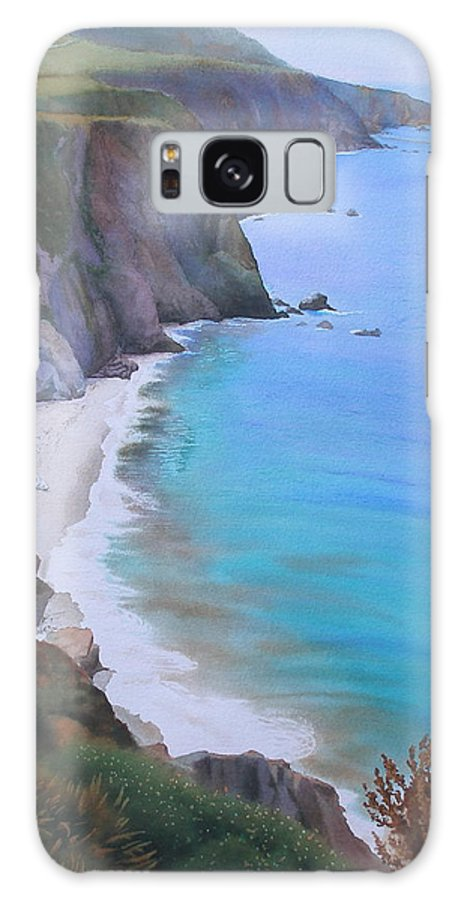 Watercolor Galaxy S8 Case featuring the painting Big Sur Coast by Daniel Dayley