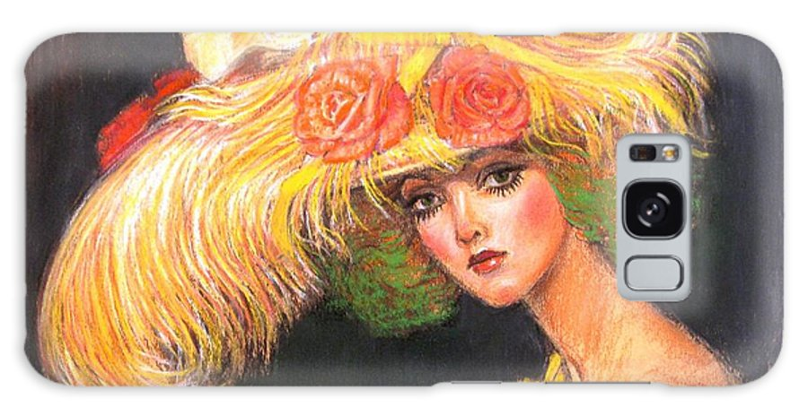 Fashion Galaxy S8 Case featuring the painting Big Yellow Fashion Hat by Sue Halstenberg