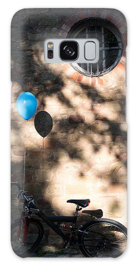 Bicycle Galaxy S8 Case featuring the photograph Bike With Balloon by Frank Gaertner