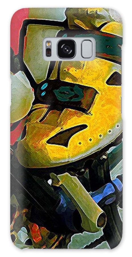 Bicycle Galaxy S8 Case featuring the painting Biker Boy Foot by Dale Moses