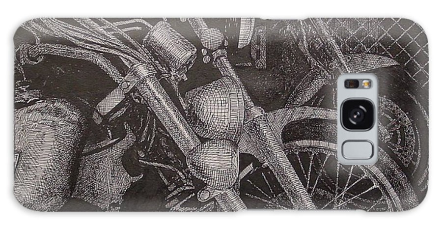 Motorcycles Galaxy Case featuring the drawing Bikes by Denis Gloudeman