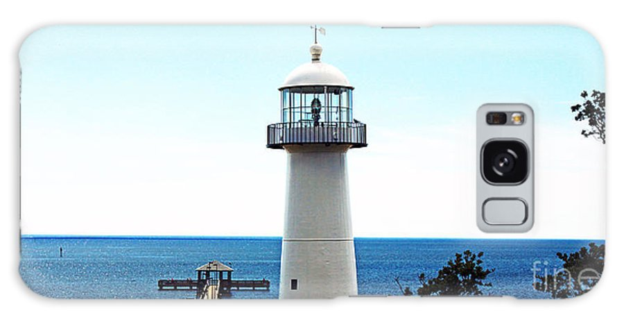 Seascape Galaxy S8 Case featuring the photograph Biloxi Lighthouse 4 by Earl Johnson