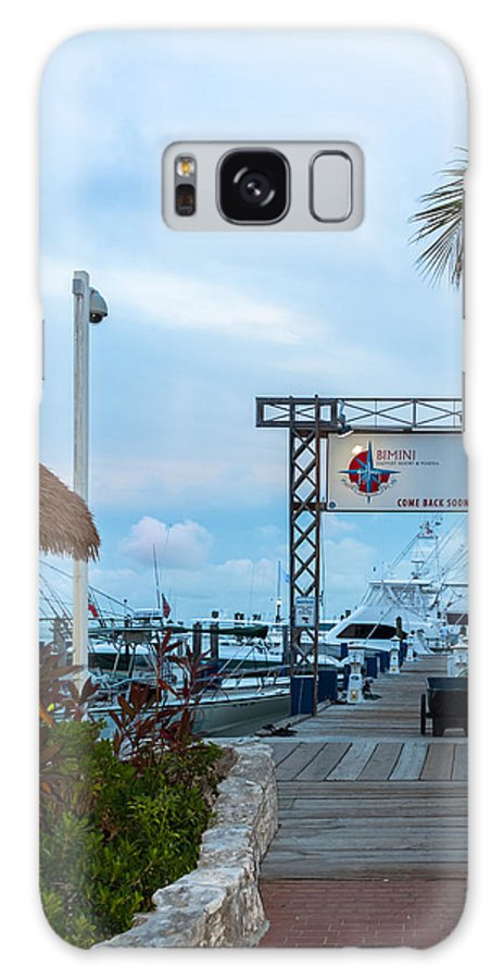 Alice Galaxy S8 Case featuring the photograph Bimini Guy Harvey Outpost by Ed Gleichman