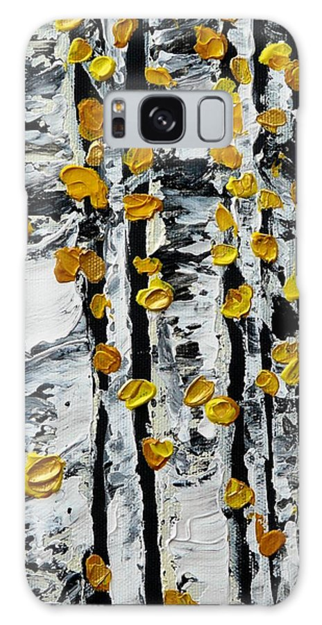 Birch Galaxy S8 Case featuring the painting Birch Study Fall by Valerie Ornstein