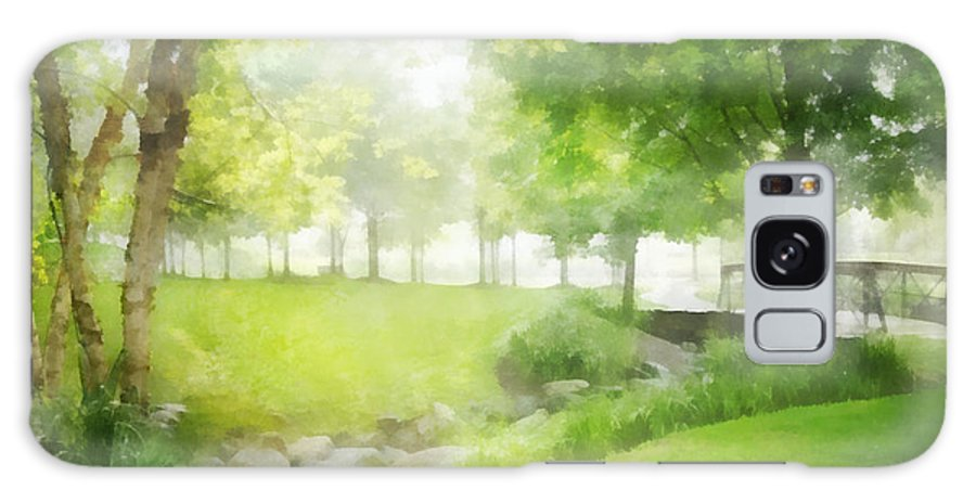 Birch Galaxy S8 Case featuring the digital art Birches And Stream by Francesa Miller