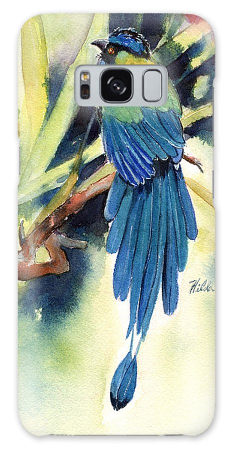 Bird Galaxy S8 Case featuring the painting Bird Of Paradise by Hilda Vandergriff