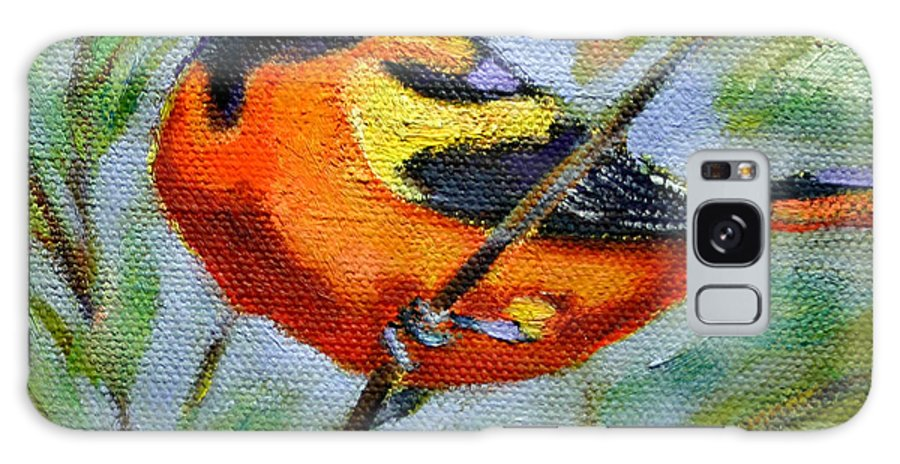 Bird Galaxy S8 Case featuring the painting Bird Series Oriole by Carol Jo Smidt