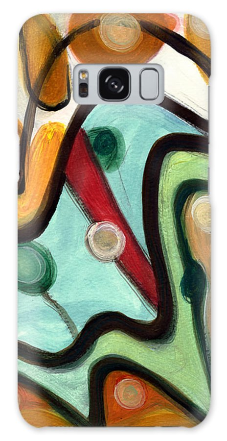 Abstract Art Galaxy S8 Case featuring the painting Birds In Flight by Stephen Lucas