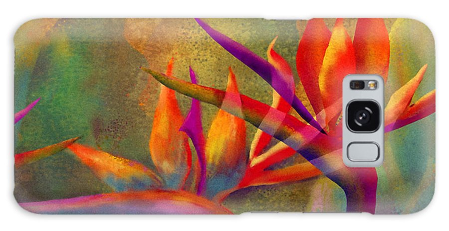 Birds Of Paradise Galaxy Case featuring the painting Birds in the Mist by Francine Dufour Jones