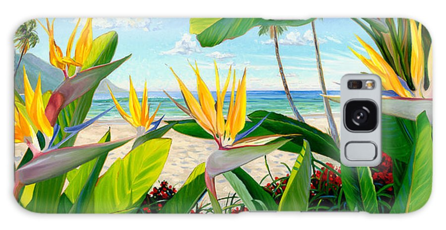 Birds Of Paradise Galaxy S8 Case featuring the painting Birds Of Paradise by Steve Simon