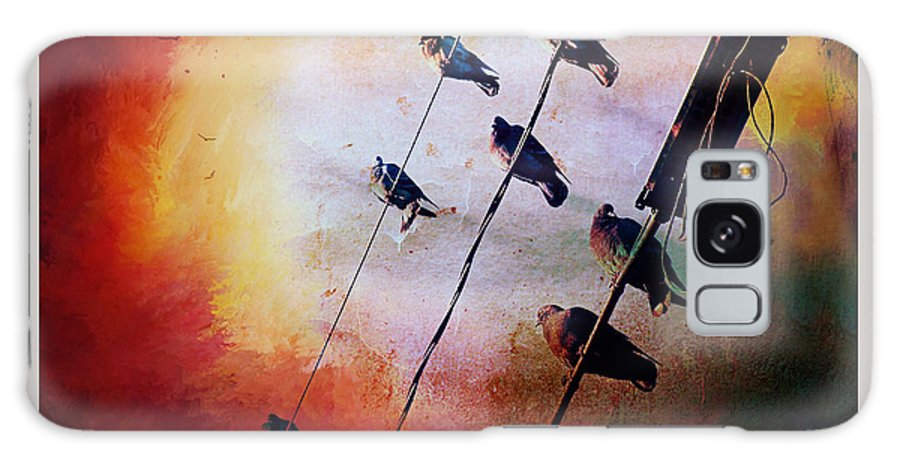 Birds On A Wire Galaxy S8 Case featuring the photograph Birds On A Wire by Micki Findlay