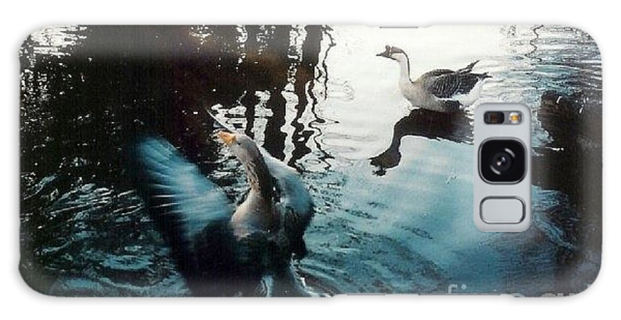 Goose Galaxy S8 Case featuring the photograph Birds On The Mill Pond by Laurie Eve Loftin